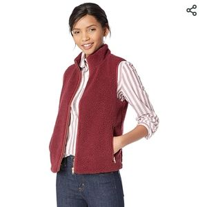 J Crew Mercantile Faux-Sherpa Fleece Vest